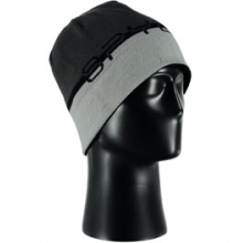 Reversible Word Hat - Men's - Black/Polar/Cirrus by Spyder
