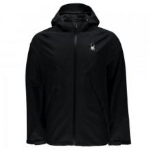 Pryme Rain Jacket Men's, Black/Black, L by Spyder