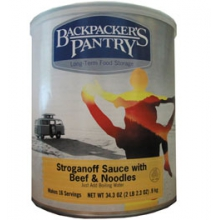 Backpacker's Pantry #10 Can Beef Stroganoff and Sauce with Noodles by Backpacker's Pantry