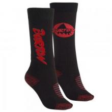 Weekend 2-Pack Snowboard Sock Kids', True Black/Red, S/M by Burton