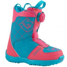 Grom Boa Snowboard Boots Kids', Pink/Teal, 1 by Burton