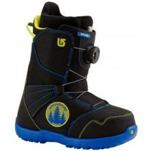 Zipline Boa Snowboard Boots Kids', Black/Blue, 4 by Burton