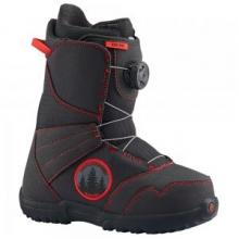 Zipline BOA Snowboard Boot Kids', Black/Red, 4 by Burton