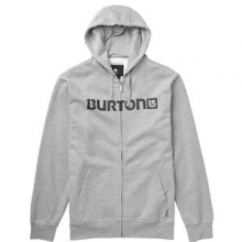 Logo Horizontal Full-Zip Hoodie Men's, Heather Grey, L by Burton