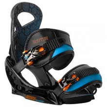Mission EST Smalls Snowboard Binding Boys', Black/Orange, S by Burton