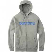 Logo Horizontal Full-Zip Hoodie Men's, Gray Heather, M by Burton