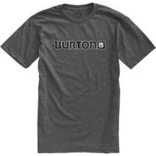Logo Horizontal Short Sleeve T-Shirt Men's, Charcoal/Gray, L by Burton