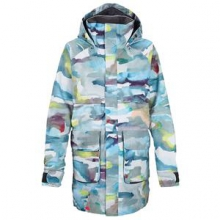 Mirage Insulated Snowboard Jacket Women's, Watercolor Holbrook, L by Burton