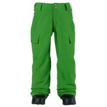Exile Cargo Insulated Snowboard Pant Boys', Slime, S by Burton