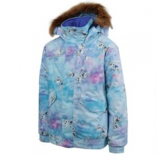 Twist Bomber Insulated Snowboard Jacket Girls', Elsa Anna Frozen Print, L by Burton