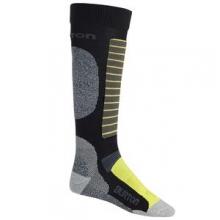 Merino Phase Snowboard Sock Men's, True Black, L by Burton