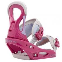 Stiletto Snowboard Bindings Women's, Pink/Gray, L by Burton