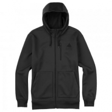 Classic Bonded Full Zip Hoodie Sweatshirt Men's, True Black, L by Burton
