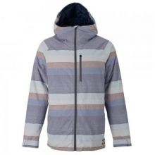 Hilltop Insulated Snowboard Jacket Men's, Faded Stripe, L by Burton