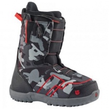 AMB Smalls Snowboard Boot Kids', Black/Red, 4 by Burton