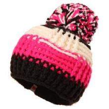 Patchwork Beanie Girls', White,