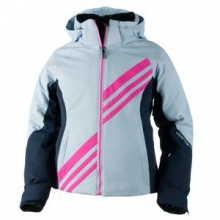 Nateal Ski Jacket  Girls', White, XS by Obermeyer