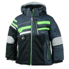 Stryker Insulated Ski Jacket Little Boys', Stripeout Print, 2 by Obermeyer