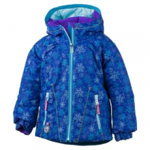 Arielle Insulated Ski Jacket Little Girls', Nordic Frost Print, 3 by Obermeyer
