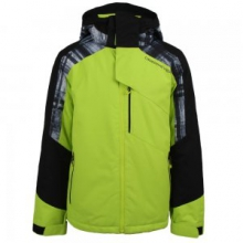 Outland Insulated Ski Jacket Boys', Screamin Green, XS