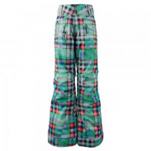 Jessi Insulated Ski Pant Girls', Plaid Haze, XS by Obermeyer