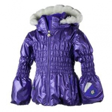 Sheer Bliss Ski Jacket Little Girls', Grape, 2
