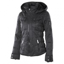 Leighton Insulated Ski Jacket Women's, Black, 16 by Obermeyer