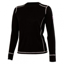 Fiona Crew Neck Shirt Women's, Black, L