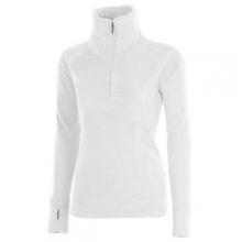 Brandi 1/2-Zip Fleece Top Women's, White, XL by Obermeyer