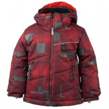 Strato Insulated Ski Jacket Little Boys', Red Groomer Print, 3