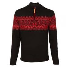 Hemsedal 1/4-Zip Sweater Men's, Black, M by Obermeyer