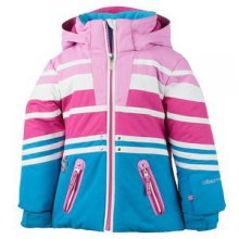 Sundown Insulated Ski Jacket Little Girls', White, 2 by Obermeyer