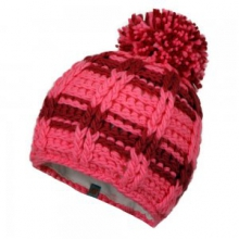 Ski School Knit Hat Little Girls', Neo Pink/Wild Berry, L/XL