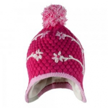 Flower Pop Knit Hat Little Girls', Glamour Pink,