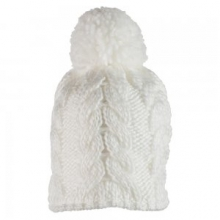 Livy Knit Hat Little Girls', White, by Obermeyer