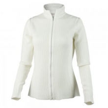 Joy Knit Full Zip Sweater Women's, White, M