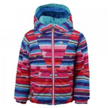 Ashlyn Insulated Ski Jacket Little Girls', Scribble Stripe, 2 by Obermeyer