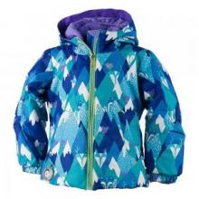 Ashlyn Insulated Ski Jacket Little Girls', Scribble Stripe, 2 by Obermeyer