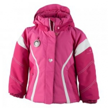 Aria Insulated Ski Jacket Little Girls', French Rose/Glamour Pink/White, 2