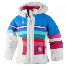 Snowdrop Insulated Ski Jacket Little Girls', White, 2