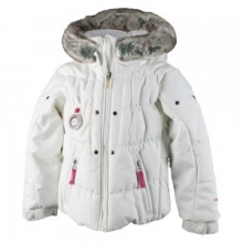 Juniper Insulated Ski Jacket Little Girls', White, 2