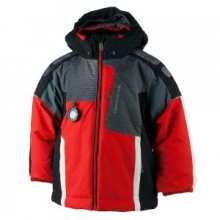Blaster Insulated Ski Jacket Little Boys', Red, 2 by Obermeyer