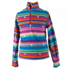 Bomber Pro Fleece Top Little Kids', Scribble Stripe, XS by Obermeyer