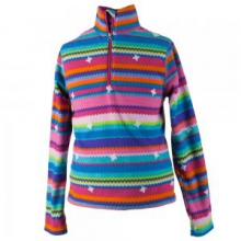 Bomber Pro Fleece Top Kids', Scribble Stripe, S by Obermeyer