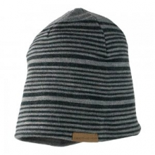 Striper Knit Hat Men's, Light Heather Grey, by Obermeyer