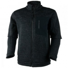 Gunner Bonded Knit Fleece Jacket Men's, Black, L by Obermeyer