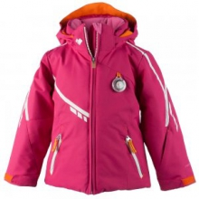 Leyla Insulated Ski Jacket Little Girls', Glamour Pink, 2