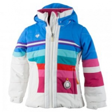 Snow Drop Insulated Ski Jacket Little Girls', White, 5 by Obermeyer