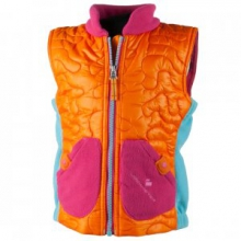Snuggle Insulated Vest Little Girls', Tangerine, 2 by Obermeyer