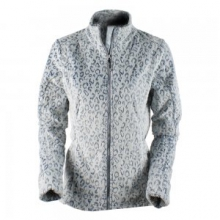 Tess Fleece Jacket Women's, Ice Leopard, L by Obermeyer